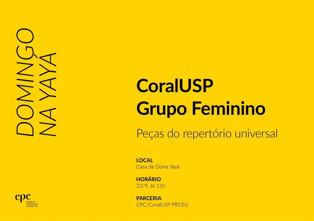 Domingo na Yayá (23/9): CoralUSP Grupo Feminino