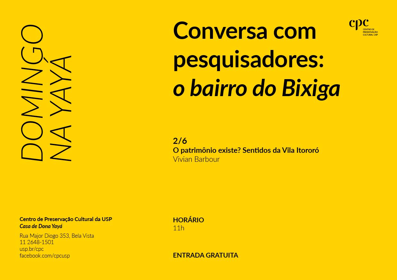 Domingo na Yayá — Conversa com pesquisadores sobre o bairro do Bixiga