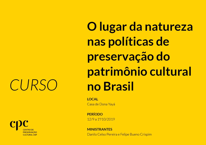 O lugar da natureza nas políticas de preservação do patrimônio cultural no Brasil